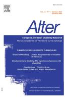 Alter - European Journal of Disability research