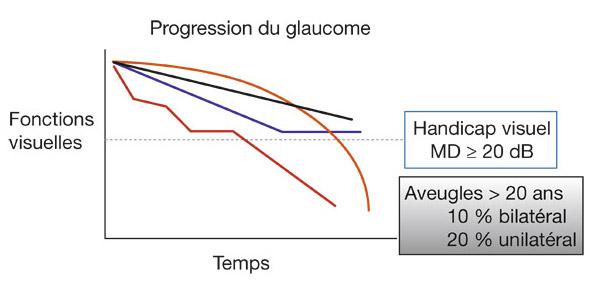 Généralement, la progression est parabolique avec une vitesse lente au  début et une vitesse beaucoup plus rapide à la fin de la maladie (courbe  orange). 1ffcfb3120a4
