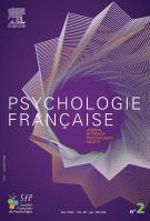 Elsevier Masson . Revue Psychologie Française